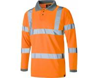 Dickies Long Sleeved Hi Vis Polo Shirt