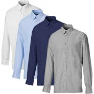 Mens Oxford Weave Shirt Long Sleeve