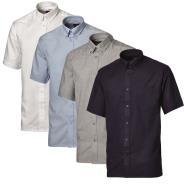Mens Oxford Weave Short Sleeved Shirt
