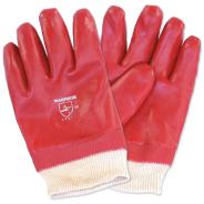 Red PVC Dipped Gloves