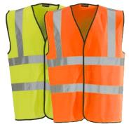 Dependable 2-Band Hi-Vis Vests
