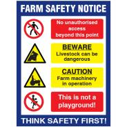 Farm Safety Notice Sign