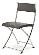 Folding Chair Black/Chrome Frame