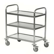 Kongamek Stainless Steel 3-Shelf Trolley
