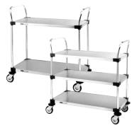 Stainless Steel Solid Shelf Trolley