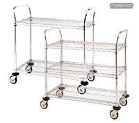 Stainless Steel Wire Shelf Trolley