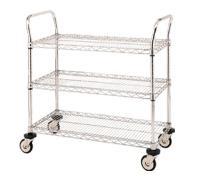 Chrome Wire Trolleys 3 Shelf