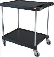 Metro My Cart Polymer Utility Cart Black - 2 Shelf