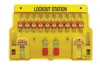 10 Lock Lockout Stations