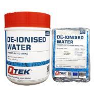 QTEK De-Ionised Water Wipes