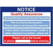 Quality Assurance Sign
