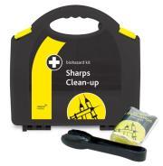 Reliance Biohazard Sharps Clean-Up Kit in Aura Box
