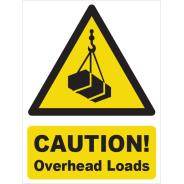 Caution! Overhead Loads Signs