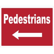 Pedestrians Left Signs