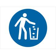 Use Litter Bin Symbol Signs