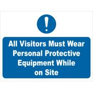 Visitors Must Wear PPE Signs