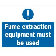Fume Extraction Equipment Must Be Used Signs