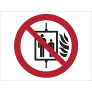 In The Event Of Fire Do Not Use This Lift Symbol