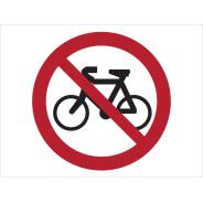 No Cycling Symbol Signs