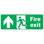 Fire Exit Running Man Up Arrow Signs