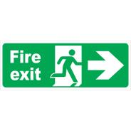 Fire Exit Running Man Right Arrow Signs