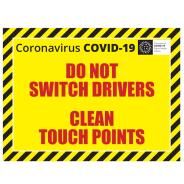 COVID-19 Do Not Switch Drivers Labels