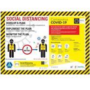 Social Distancing Planning Self-Adhesive Poster