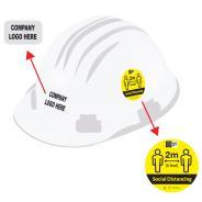 COVID-19 Social Distancing Helmet Stickers