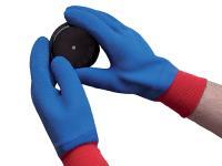 Skytec Helium Crinkle Grip Gloves Blue