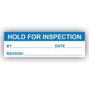 PremPak Write-On Labels - Hold for Inspection