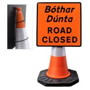 """Cone Mountable """"Road Closed"""" Square Sign"""