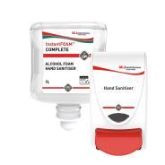 Deb InstantFoam Hand Sanitiser and Dispenser